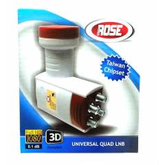 ROSE 0.1dB Quad D�rtl� LNB FULL HD - 3D Uyumlu