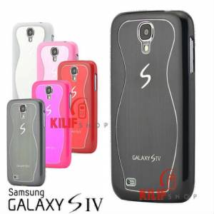 Galaxy S4 i9500 Sert Metal Rubber K�l�f +3 Film