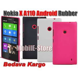 Nokia X A110 Android Slim Rubber K�l�f+2xFilm