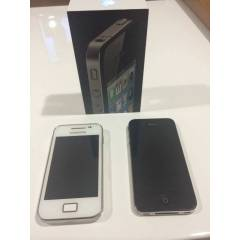 Apple iPhone 4 8GB + Samsung galaxy Ace