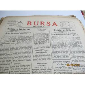 BURSA V�LAYET GAZETES� 1 A�USTOS 1939