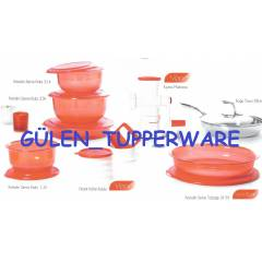 Tupperware KR�STAL�N SET - KIRMIZI �EY�Z SET�