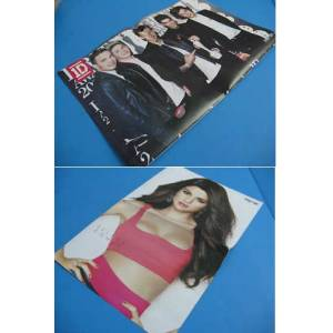 POSTER ~ SELENA GOMEZ & ONE DRECTION   28x42 Cm