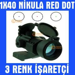 1X40 Nikula Red Dot Sight Hedef Noktalay�c� 010