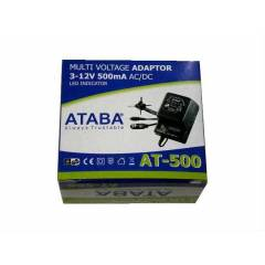 ATABA AT-500 3-12V 500mA Ayarl� Adapt�r