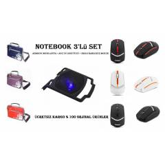 NOTEBOOK �ANTA - SO�UTUCU - KABLOSUZ MOUSE SET