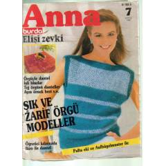 ANNA BURDA EL��� ZEVK� - �RG� MODEL� - 1983 /07