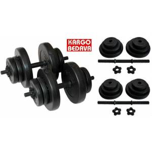 40 Kg Delta Vinyl Damb�l Bar Set Dumbell