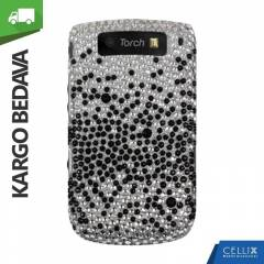 BlackBerry Torch 9800 Ta�l� K�l�f Kademeli Siyah