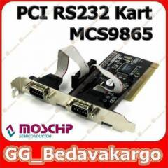 2 Port PCI RS232 Kart MCS9865 Moschip 2 Port PCI