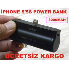 �PHONE 5/5S �ARJLI P�L POWER BANK 3000mah G��!