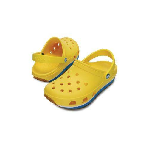Retro Clog Terlik Yellow-Ocean