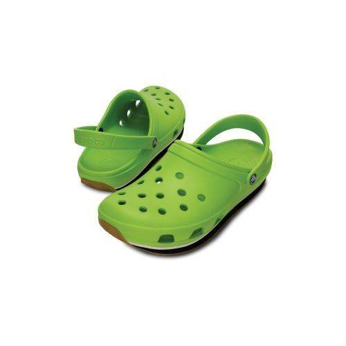 Retro Clog Terlik Volt Green-Black