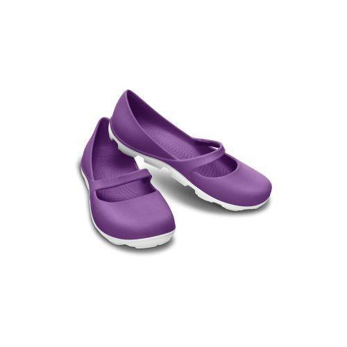 Crocs Duet Sport Mary Jane Sandalet Ultraviolet-White