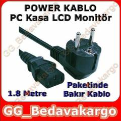 PC G�� Kablosu Power Notebook G�� Kablosu 1.8m