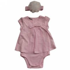 �dil Baby 5367 Bebek Body Sa� Band� Pembe 9-12