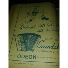SCANDAL AKORDEON REKLAMI 1939