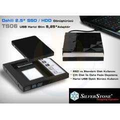 "SilverStone TS06 Slim 2.5"" SATA HDD CD-ROM Kit"