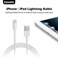 Dark 1m iPad iPhone �arj ve Data Kablosu