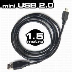 Dark Mini USB B-Tip 2.0 1.5m �arj ve Data Kablos