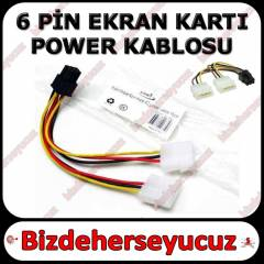 6 Pin Ekran Kart� Power G�� Kablosu PCI-EX
