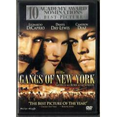 GANGS OF NEW YORK LEONARDO DICAPRIO DVD