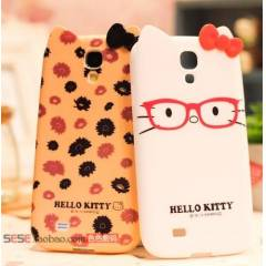 GALAXY S4 KILIF ARKA KAPAK HELLO KITTY LEOPAR
