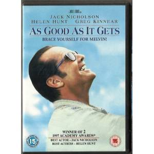 AS GOOD AS IT GETS JACK NICHOLSON   DVD