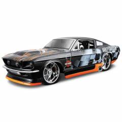 Maisto Ford Mustang GT 1967 1:24 Model Araba Siy