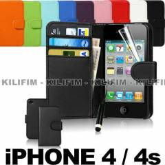 iPhone 4 K�l�f �phone 4 4s Slim C�zdan k�l�f