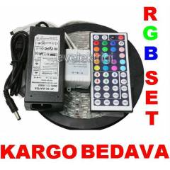 44 TU�LU RGB SET �ER�T LED+ADAPT�R+KUMANDA