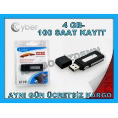 SES KAYIT C�HAZI 4 GB USB BELLEK FLASH D�SK 4GB