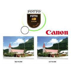 Canon 18-55mm Lens i�in Koruyucu Uv Filtre