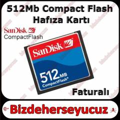 512 mb CF Compact Flash Kart - Sandisk