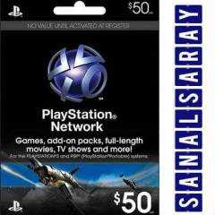 50$ (50 Dolar) PSN Playstation Network Card USA