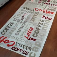 SARAY HALI SUMMER COFFEE YAZILI HALI 80x120 cm