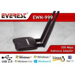 Everest USB W�RELESS ADAPT�R ��FT ANTEN