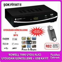 Rowell USB'li Time Shift Uydu RF + Biss + Siriu