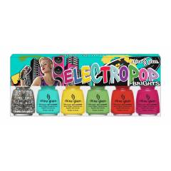 China Glaze Electro Pop - 6'l� Set Oje - Brights
