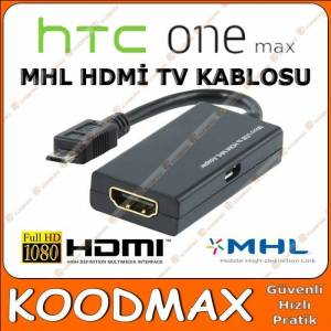 HTC ONE MAX Hdmi Tv Ba�lant� Kablosu MHL