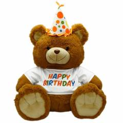 Oturan Happy Birthday Pelu� Ay� 60 cm