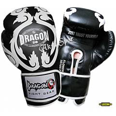 Dragon Flower Boks Ve K�ck-box Eldiveni Black