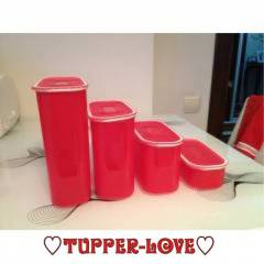 TUPPERWARE OVAL SU SET KIRMIZI 4 L� SET
