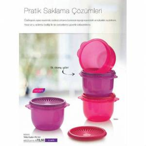 TUPPERWARE TEK PARMAK SET 4'L� 700 ML �OK F�YAT