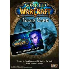 Wow Game Card 60 G�nl�k Wow Prepaid  Pre-paid EU