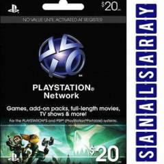 Playstation Network Card USA 20$ (20 Dolar) PSN