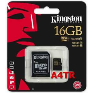 Kingston 16GB UHS-I MicroSdhc SDCA10/16GB 45MBsn