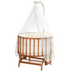 Baby Tech 152 Topkap� Ah�ap Bebek Be�i�i Naturel