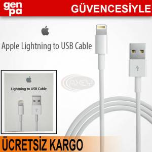%100 ORJ�NAL APPLE iPHONE 5S - 5 USB DATA KABLO
