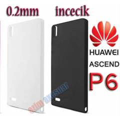 Huawei Ascend P6 Ultra �nce 0.2mm K�l�f Kapak
